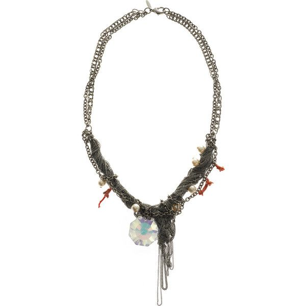 Dannijo Multi-chain crystal necklace ($136) ❤ liked on Polyvore