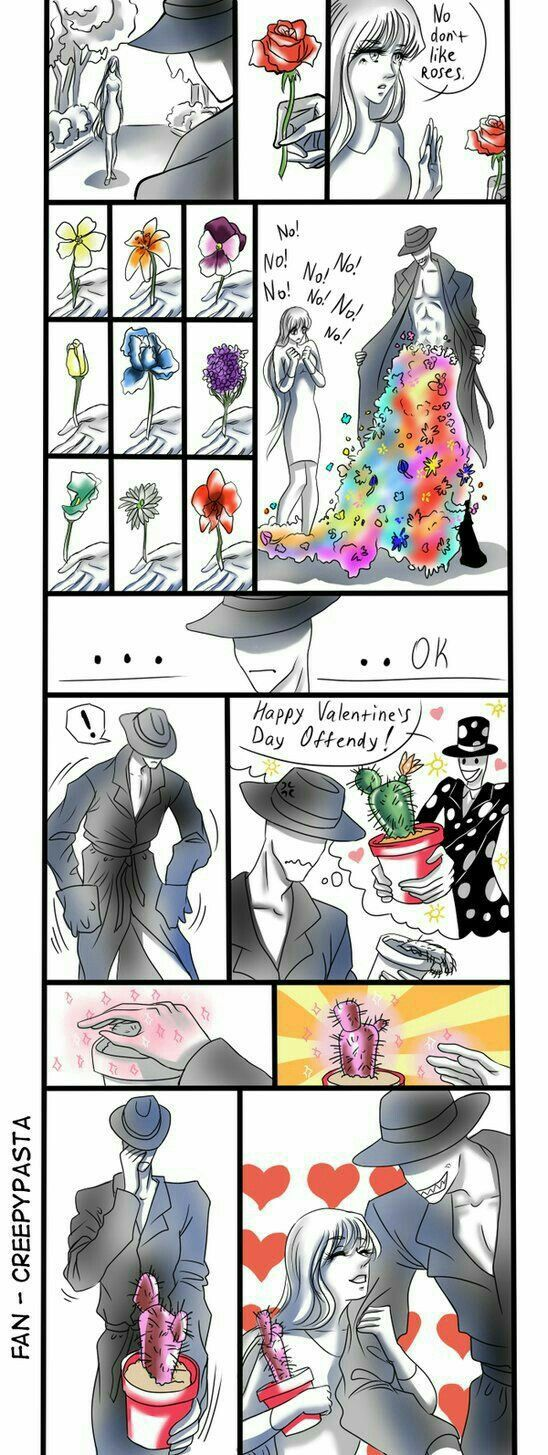 Offenderman, girl, couple, funny, flowers, Splendorman, cactus, text