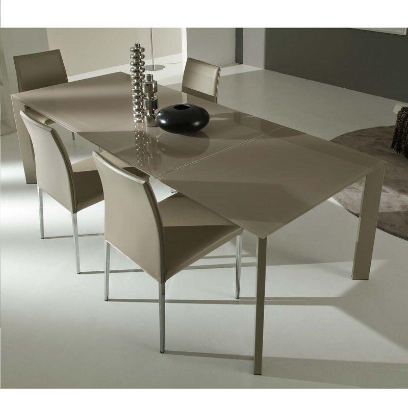 Tavolo in vetro satinato 130 e 160 cm allungabile, diverse finiture ...