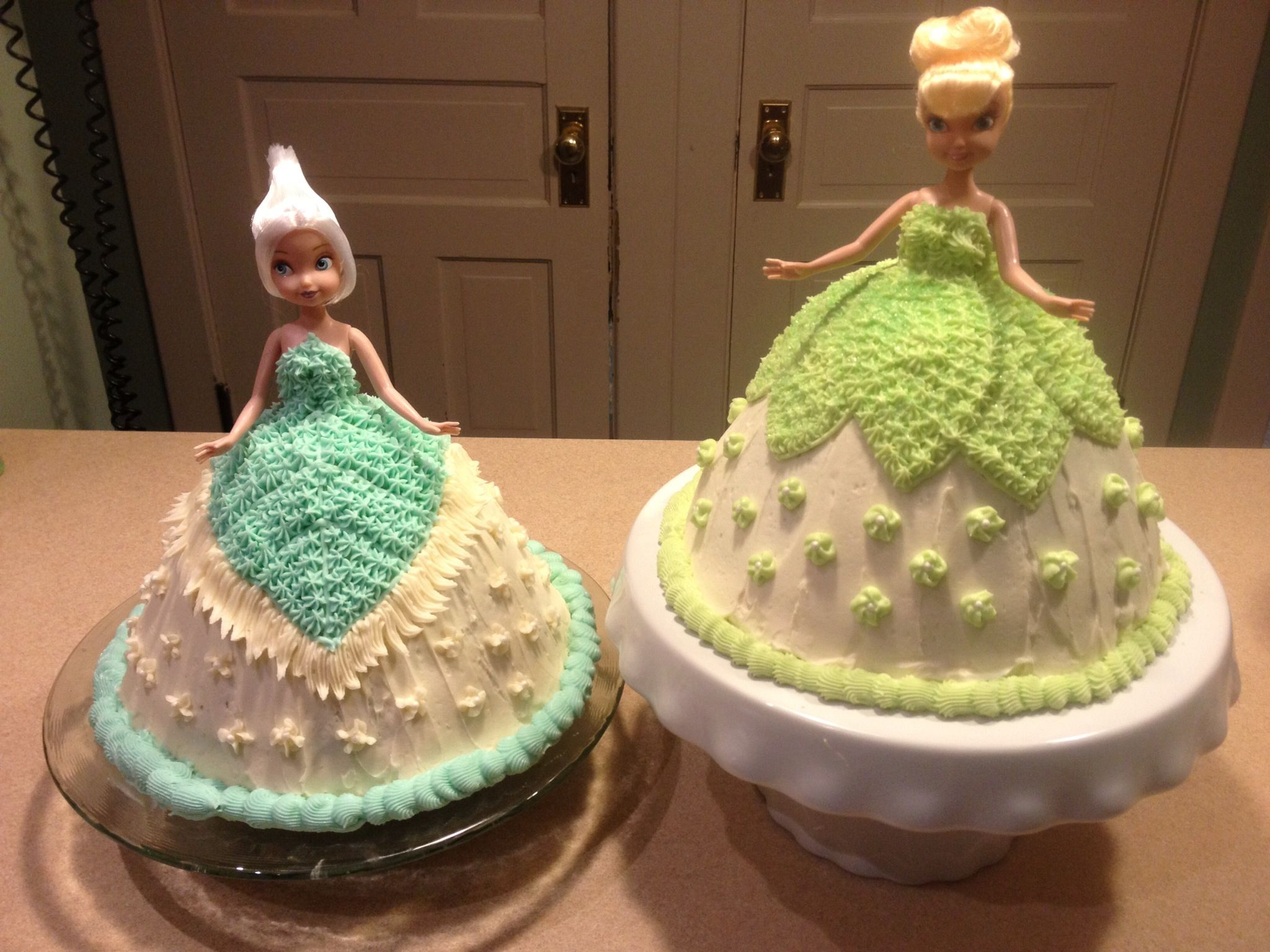 Periwinkle and Tinkerbell doll cake for a little girl ...