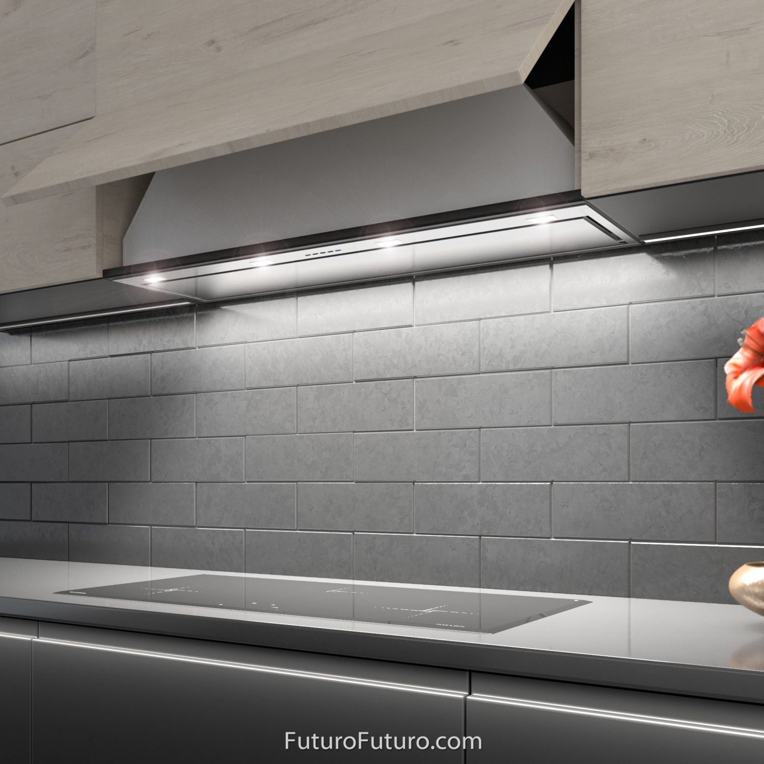 42 Insert Liner Wall The Perfect Ventilation Solution For Custom Cabinetry A Complete Range Hood Insert With In Range Hood Custom Cabinetry Kitchen Hoods