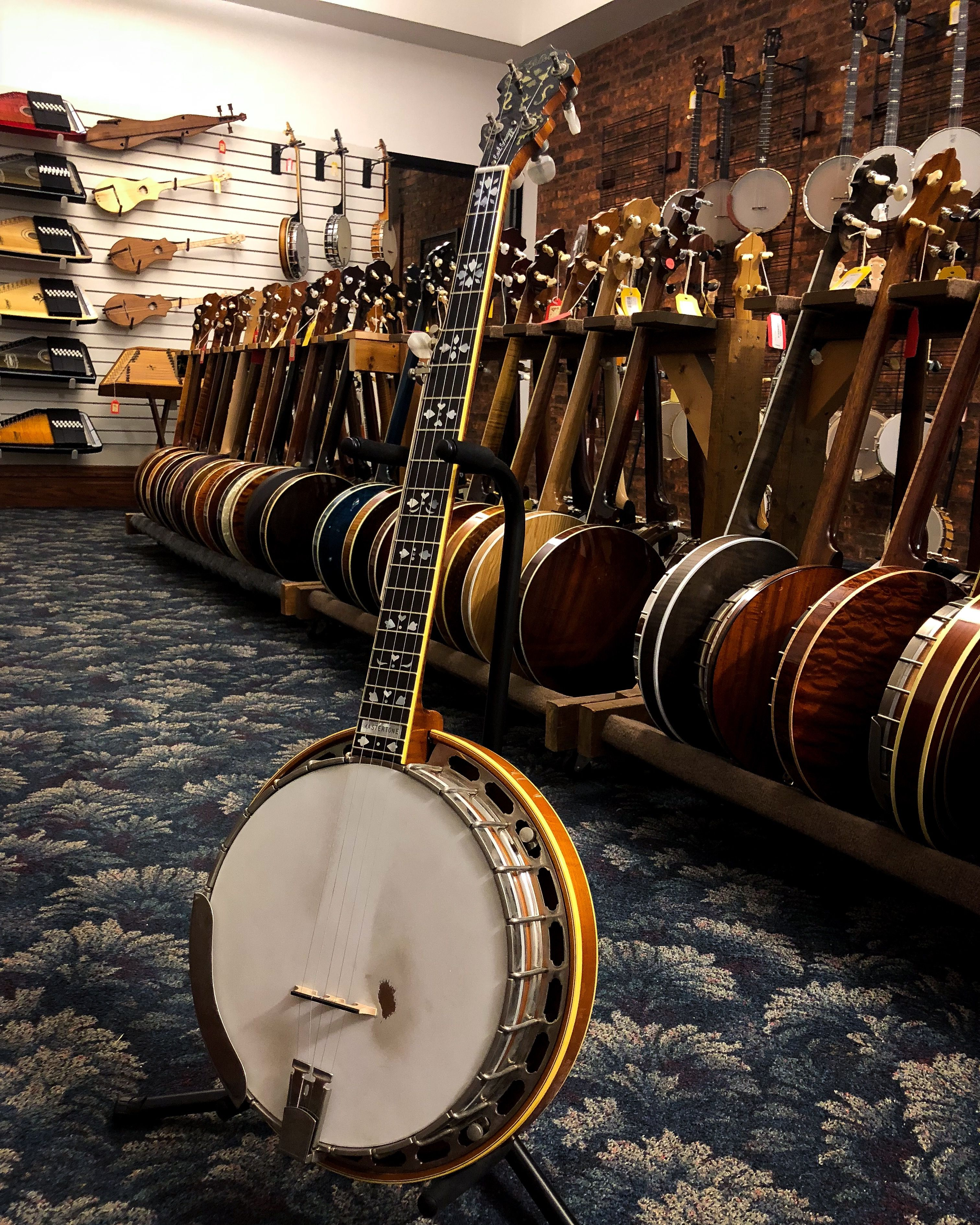A fine resonator banjo, this Gibson Earl Scruggs model features a