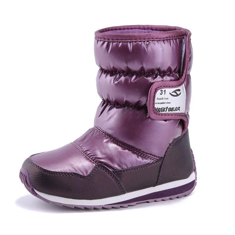 8e49c17718442 -30 degree Girls Snow Boots Winter Warm Children Boots Plush Girl shoes  Princess Boots Waterproof