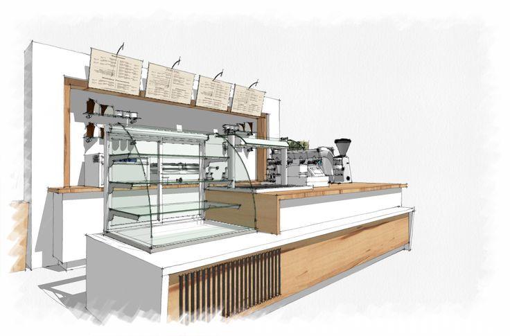 house plan rendering crayon - Поиск в Google   Coffee shop ...