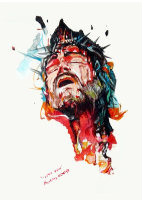 Watercolour Jesus Art Pictures Of Christ Jesus Pictures
