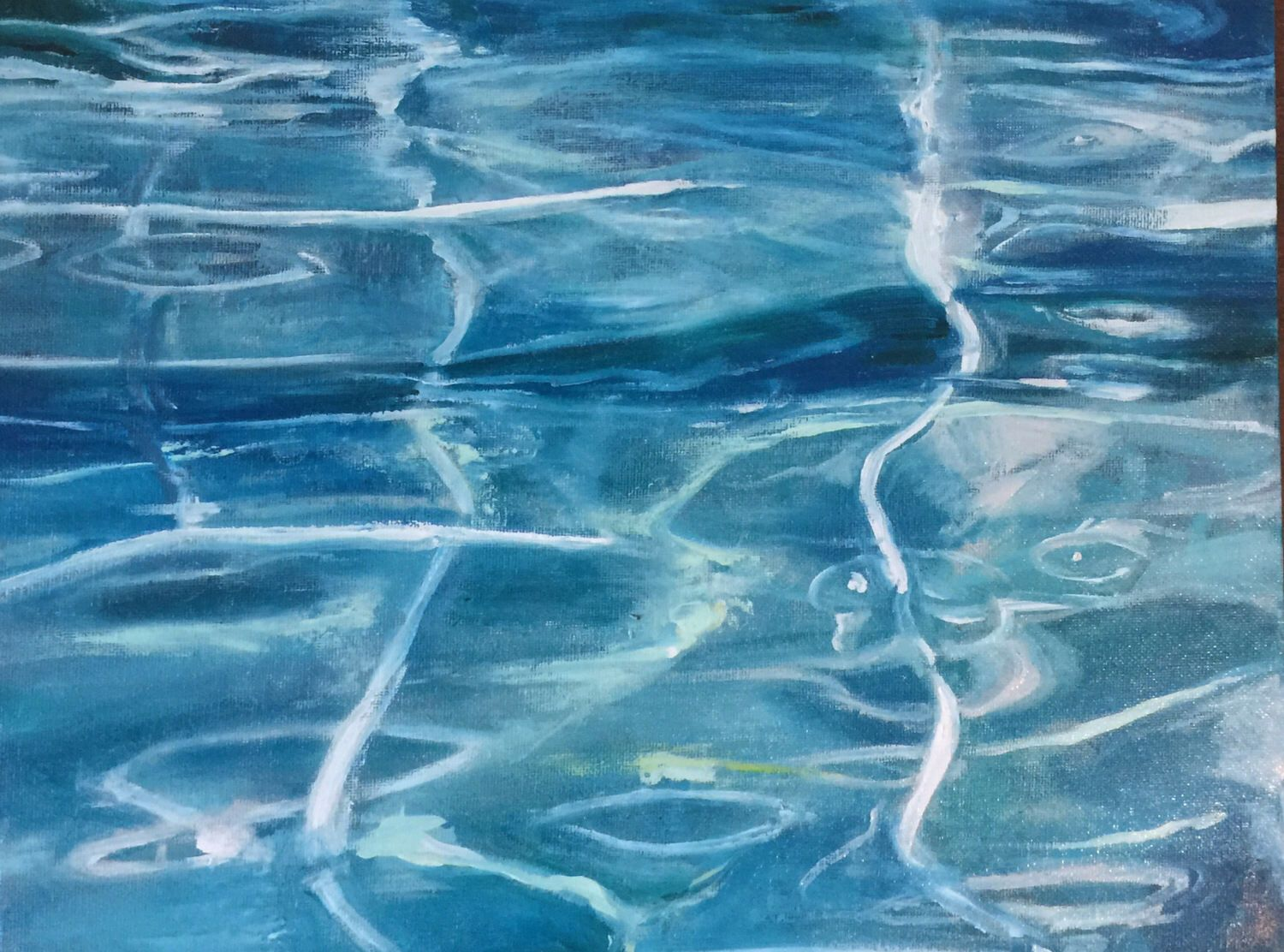 A personal favorite from my Etsy shop https://www.etsy.com/listing/521337147/pool-water-on-saturday-original-oil