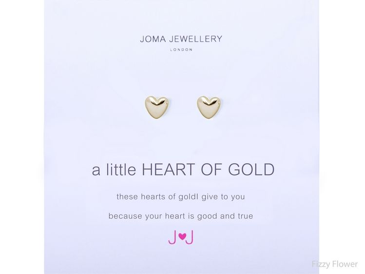 A little Heart Of Gold Earrings By Joma jewellery Edq0EM3Z