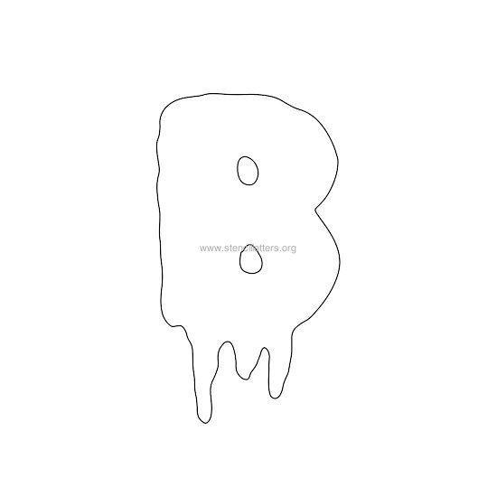 halloween stencil letter b | After school Classroom Ideas