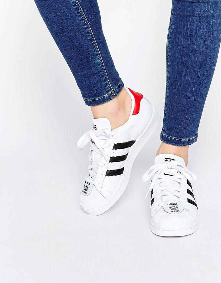 Adidas Originals Superstar With Nigo Bear Tag Sneakers Shoes
