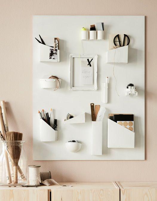 aus bemalten kartons dosen und einem alten bilderrahmen. Black Bedroom Furniture Sets. Home Design Ideas
