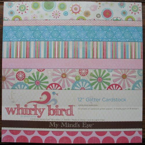 Mme My Minds Eye Whirly Bird Scrapbook Paper Pad Collection 12x12