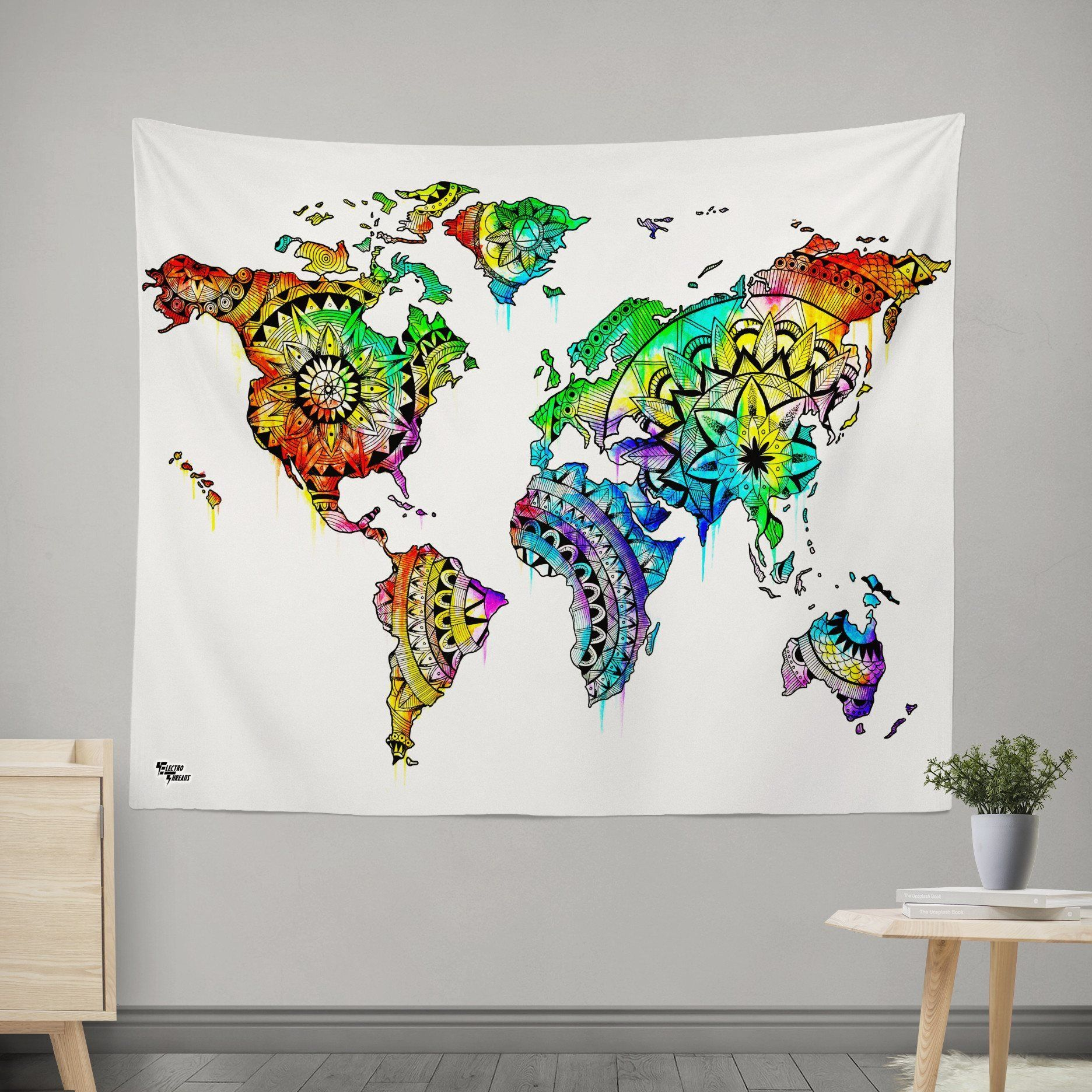 Wanderlust world map tapestry gumiabroncs Gallery