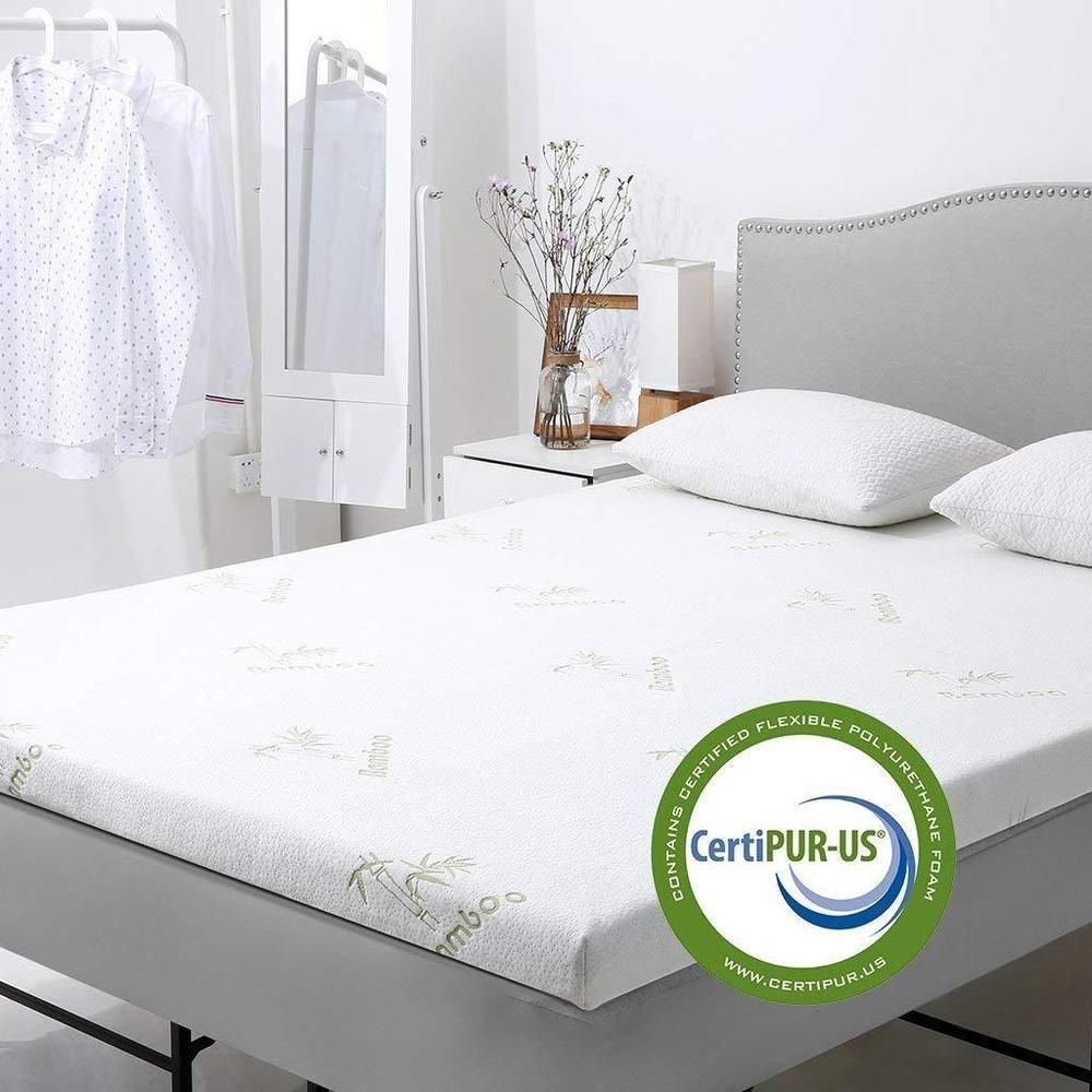 Cooling Gel Memory Foam Bed Mattress Topper Hypoallergenic