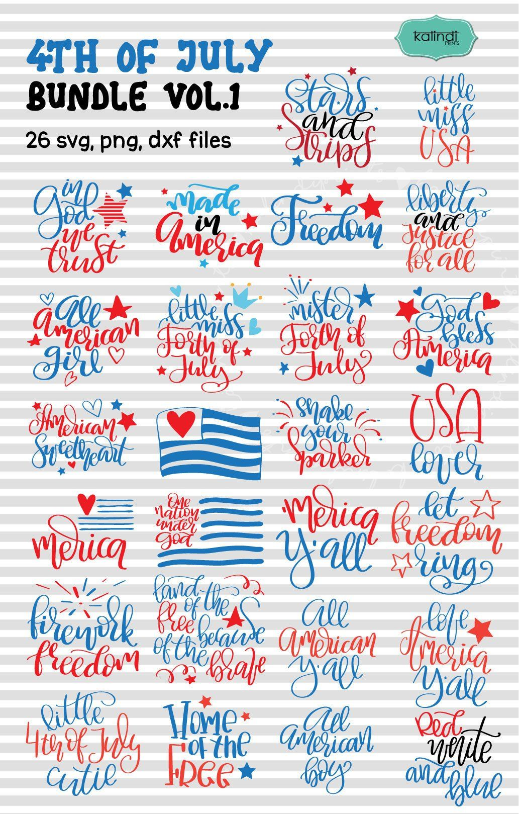 4th July Bundle Svg 4th July Patriotic Independence Day Etsy Fourth Of July Hand Lettering Fourth Of July Quotes