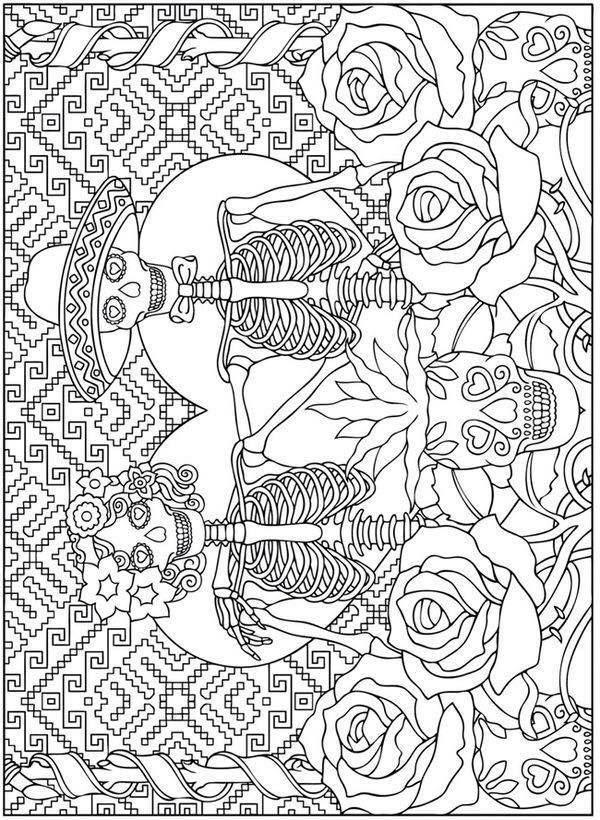 Dibujos para colorear el día de los muertos (2) … | Pinteres…