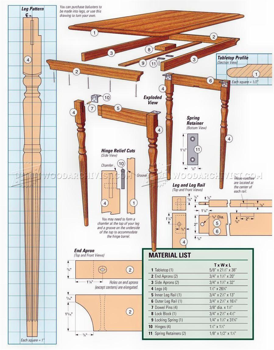 Civil War Folding Table Plans
