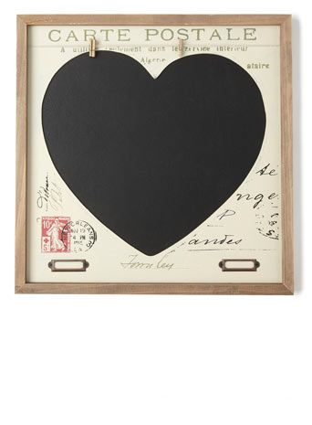 Heart Chalk Memo Board With Images Memo Board Memo Pretty House