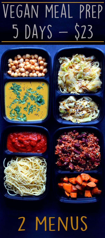 Vegan Meal Prep 5 Days For 23 Recipes Cheap Vegan