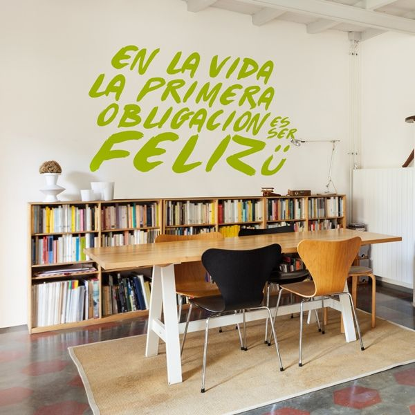 Pin by papeles pintados on vinilos decorativos textos pinterest - Vinilos decorativos textos ...