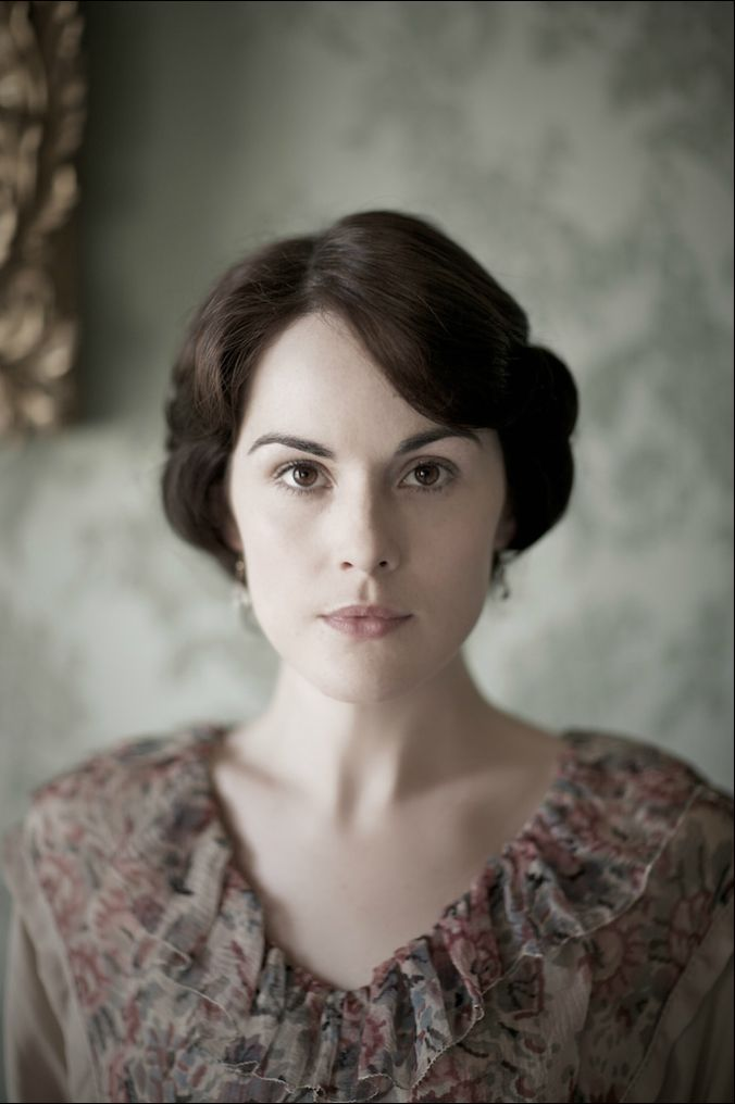 Michelle Dockery during the filming of season two of Downton Abbey