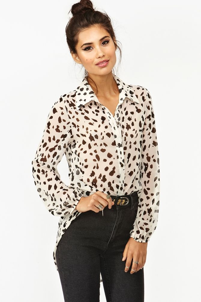 353de58671 Animal Instinct Blouse | Thanks, It's New | Fashion, Animal print ...