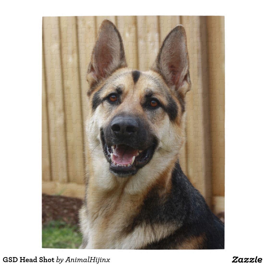 Gsd head shot jigsaw puzzle loyal dog