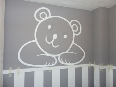 Dibujo infantil ositos pared decoracion pared - Dibujos habitacion bebe ...
