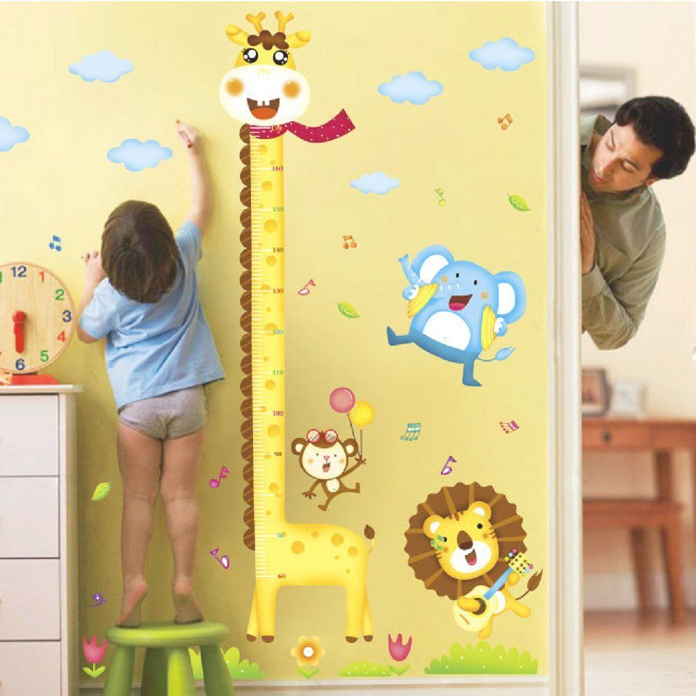 Baby height growth chart wall decor for kid giraffe growth chart baby height growth chart wall decor for kid giraffe growth chart height measurement sticker geenschuldenfo Image collections