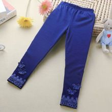 New High Quality Stretchy Kid Baby Butterfly Lace Pants Girl Warm Trousers Toddler Tight Solid Color