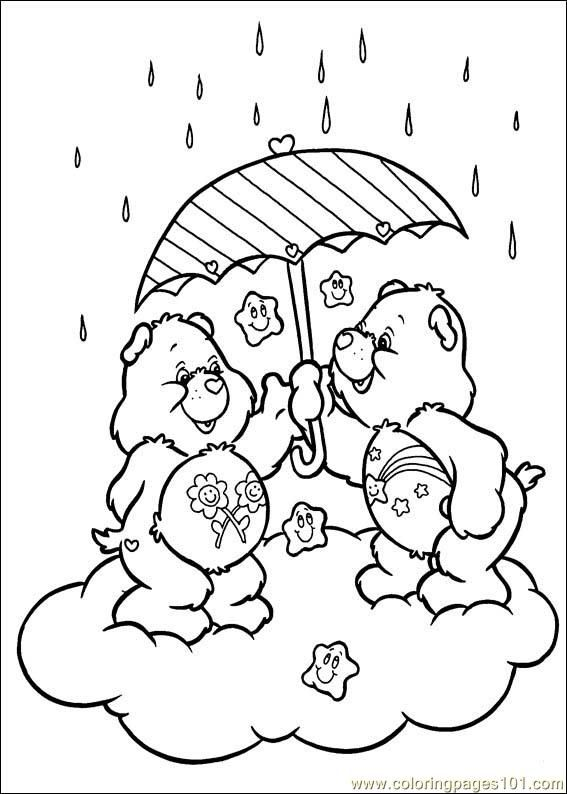 Care Bears Coloring Pages To Print Free Printable Coloring Page