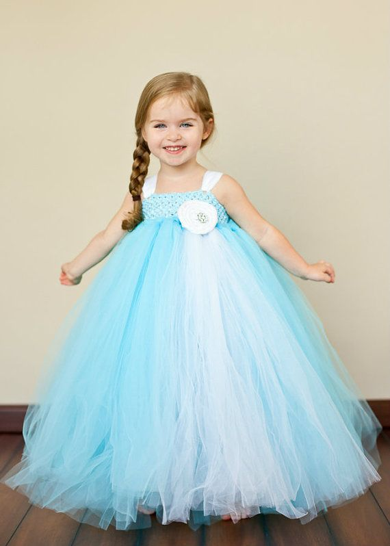 Tiffany Blue And White Flower Girl Tutu Dress Breakfast At