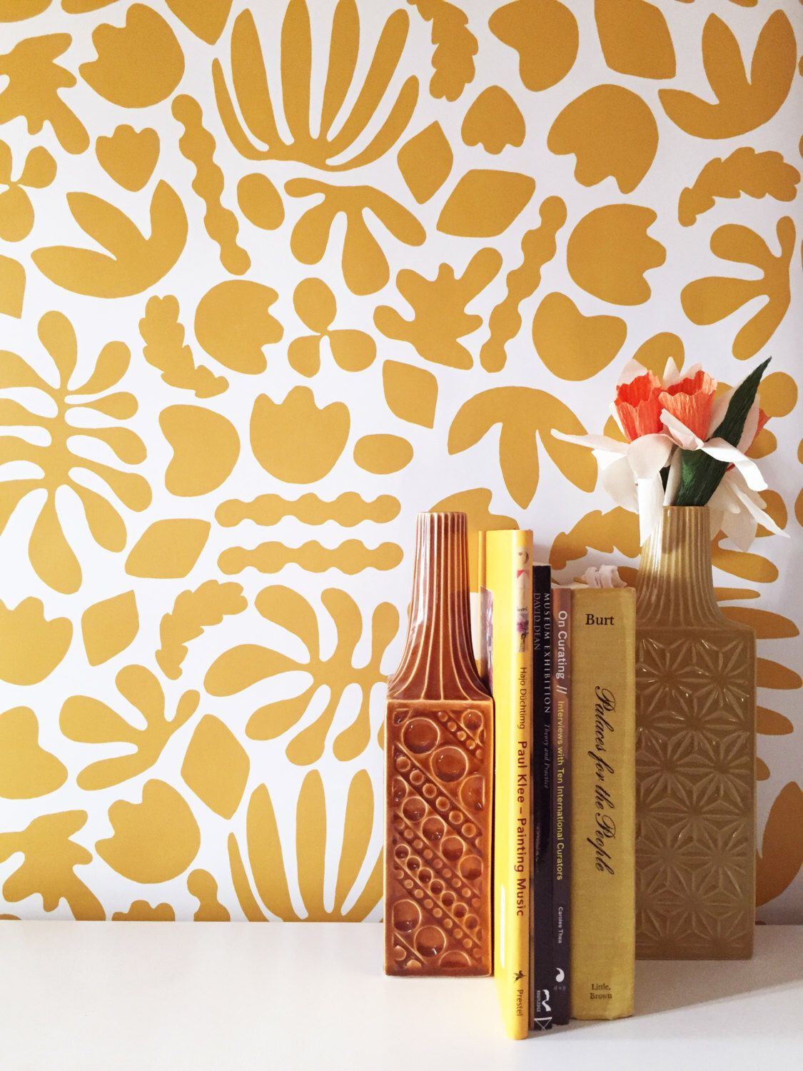 Removable Wallpaper // Muse Mustard // Removable and perfect for ...