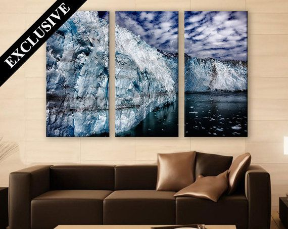Iceberg Wall Art Canvas Art 3 Panels Print Wall Decor Fine Art Photography Triptych Canvas Art Print For Home And O Winter Wall Art Wall Prints Canvas Wall Art
