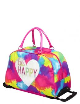 Be Happy Tie Dye Roller Duffle | Travel Luggage | Bags & Totes | Shop Justice