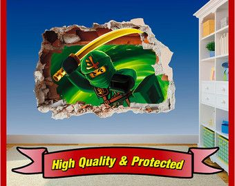 Lego Ninjago Hole in Wall Art Stickers Decal by Solosignsuk