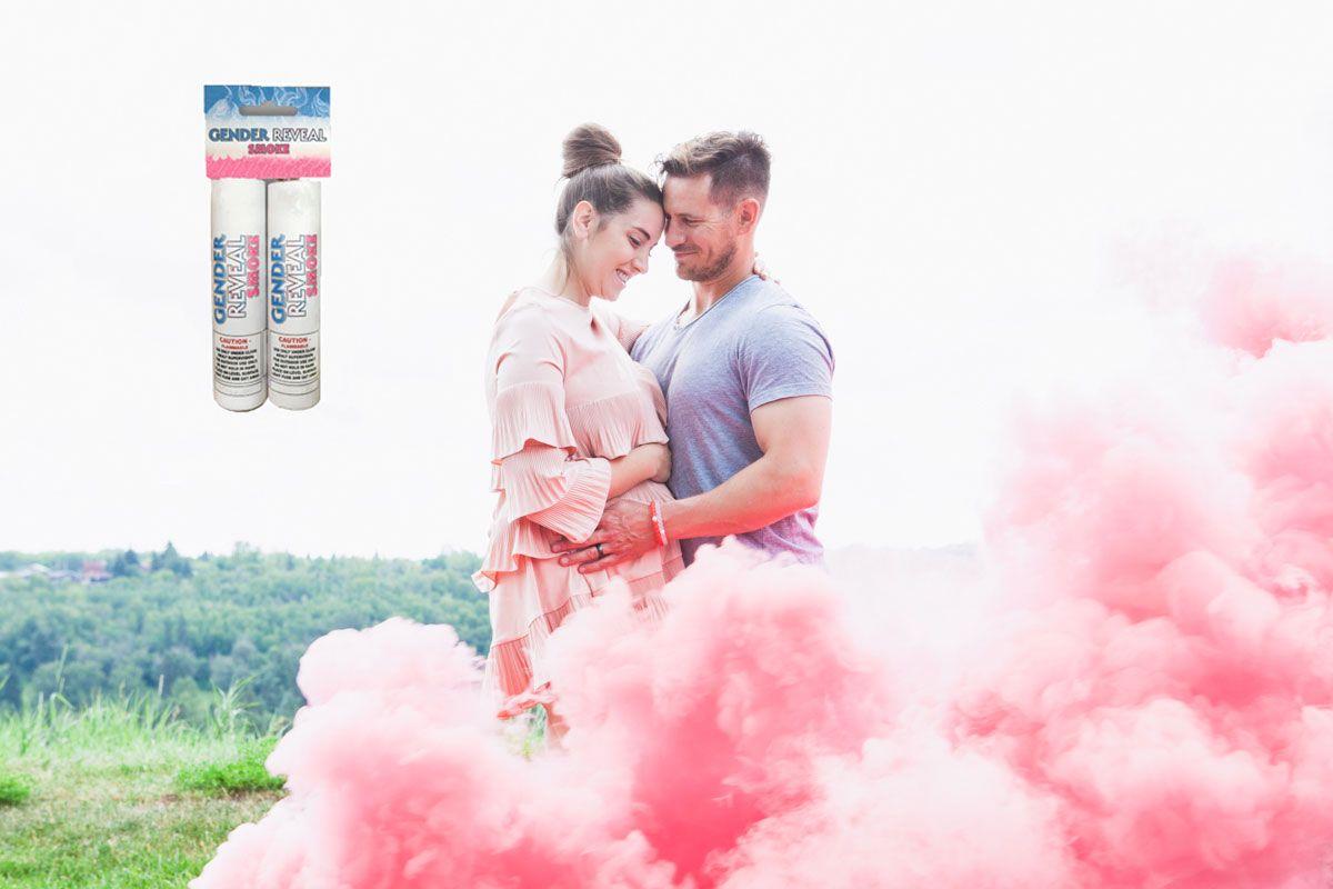 Gender Reveal Smoke Bombs | Gender Reveal Smoke