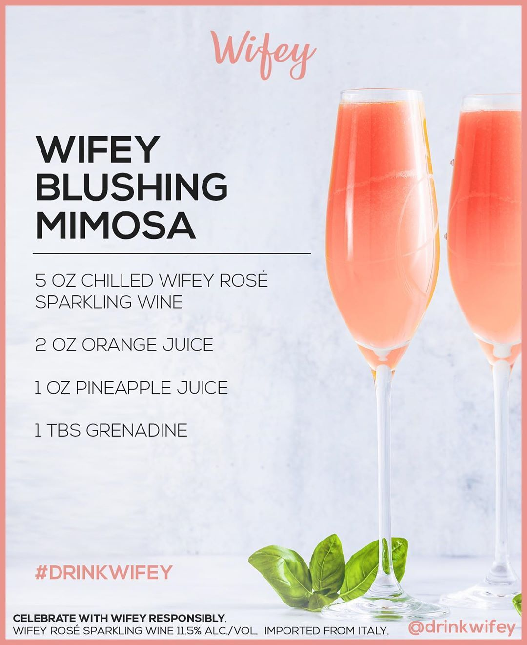 Wifey Rose On Instagram Celebrate Nationalmimosaday With A Wifey Blushing Mimosa Cheers En 2020