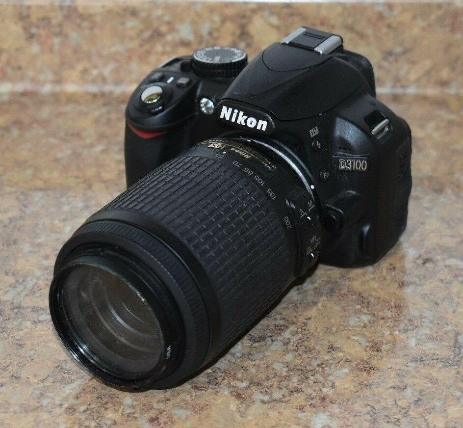 Nikon D3100 14 2mp Digital Slr Camera Black W Af S 18 55mm Dx Vr Kit Lens Ebay Nikon D3100 Digital Slr Camera Nikon