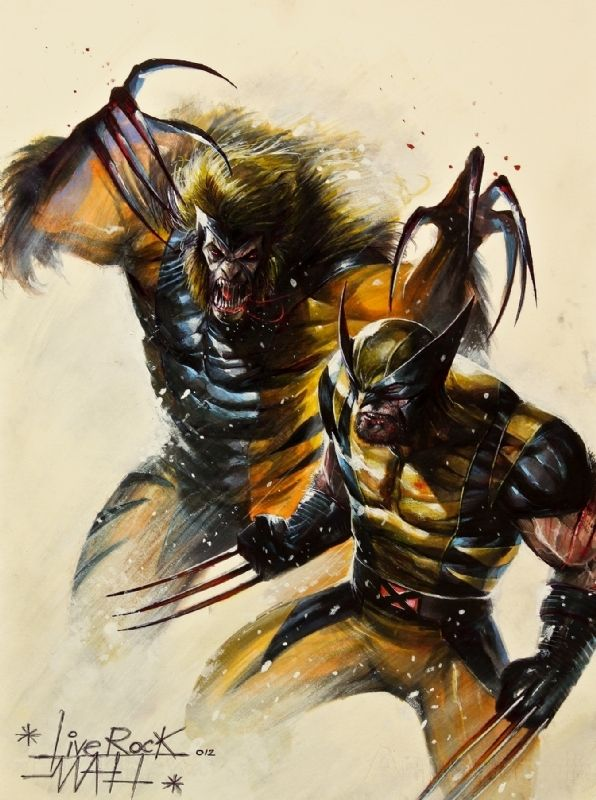 316c627d21d Wolverine vs Sabretooth by Francesco Mattina Comic Art | Comic Art ...