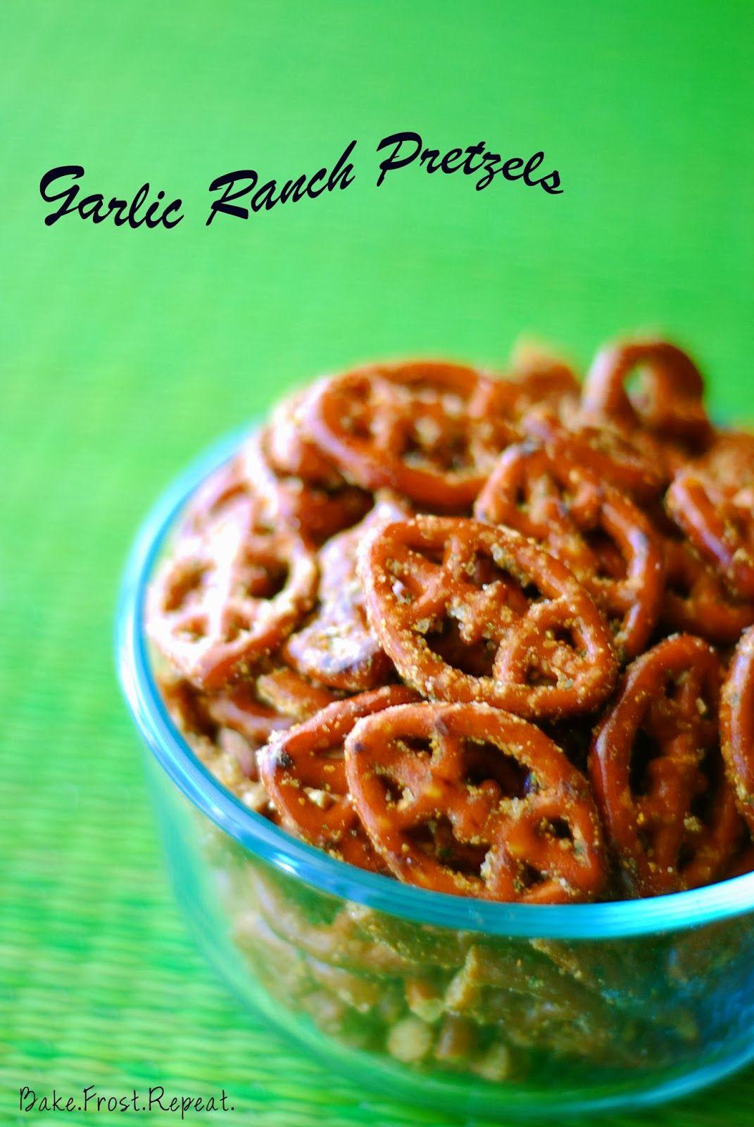 Bakefrostrepeat garlic ranch pretzels ranch pretzels