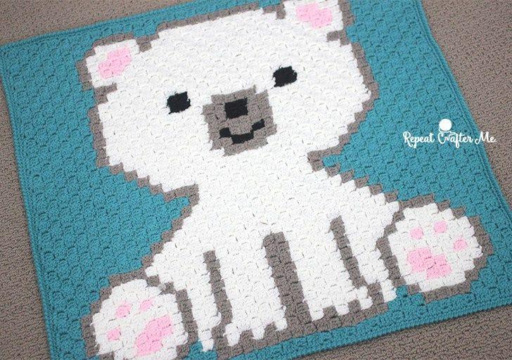 Polar Bear Cub Crochet C2C Blanket - Repeat Crafter Me | Haken ...