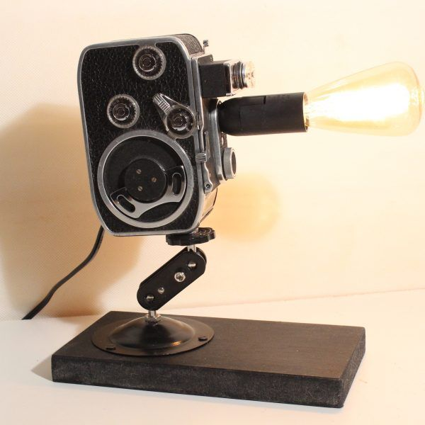 Movie Camera Desk Lamp Gifts Old World Crafts Made Into Cool Lamps ...