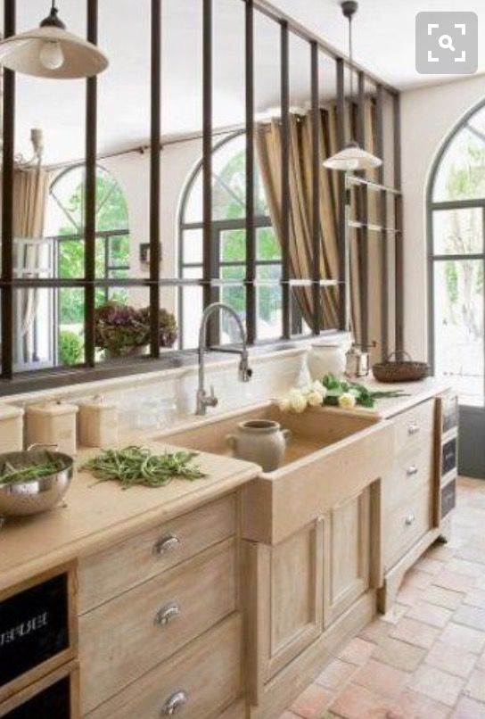 Interesting wall division And like arched windows | casa | Pinterest ...
