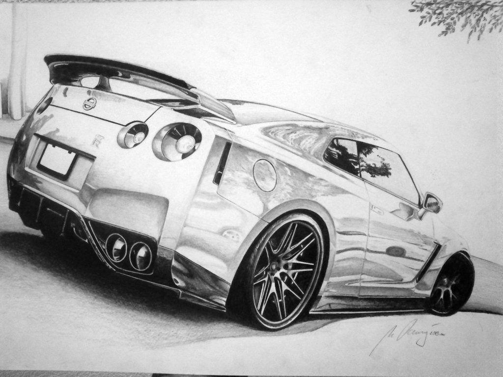 Nissan GT-R | Car drawing pencil, Gtr drawing, Car drawings