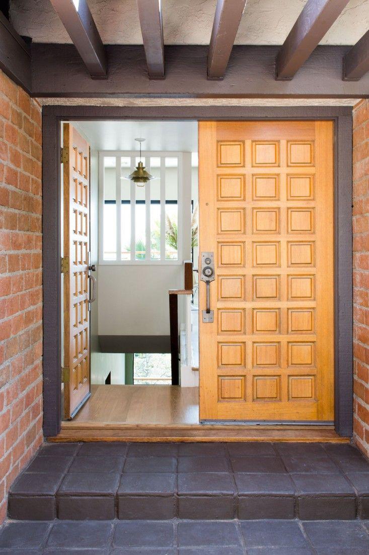A masculine midcentury revival in la front door mid - Modern interior doors los angeles ...