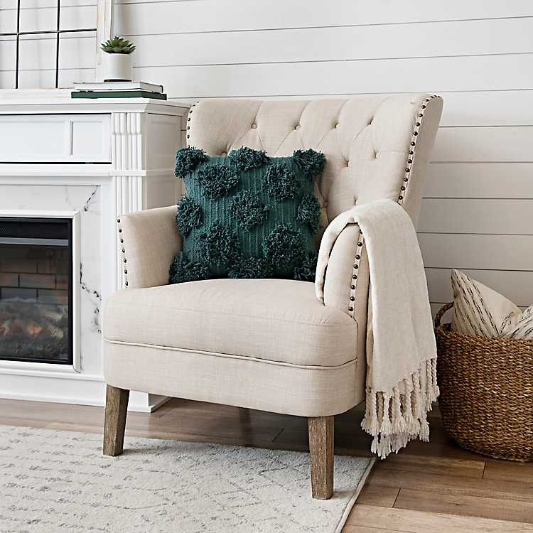 Best Cream Tufted Accent Chair With Nailhead Trim In 2020 400 x 300