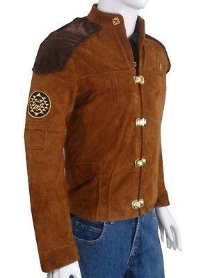 Warriors Viper Pilot Battlestar Galactica Brown Suede Jacket