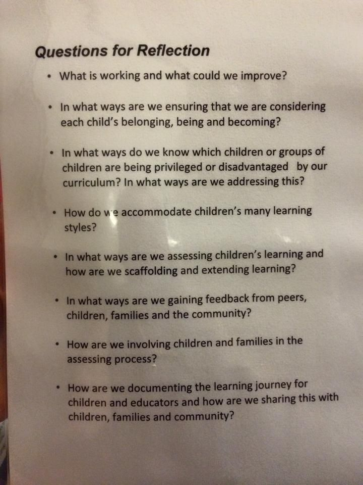 Some great questions for self-reflection to be asking ourselves and - best of 8 child care philosophy statement examples