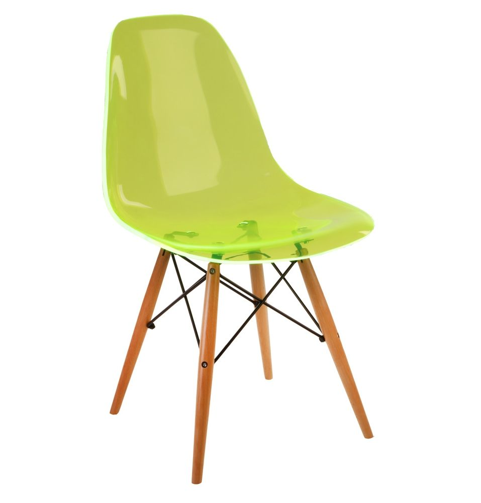 The Matt Blatt Replica Eames DSW Side Chair   Acrylic By Charles And Ray  Eames