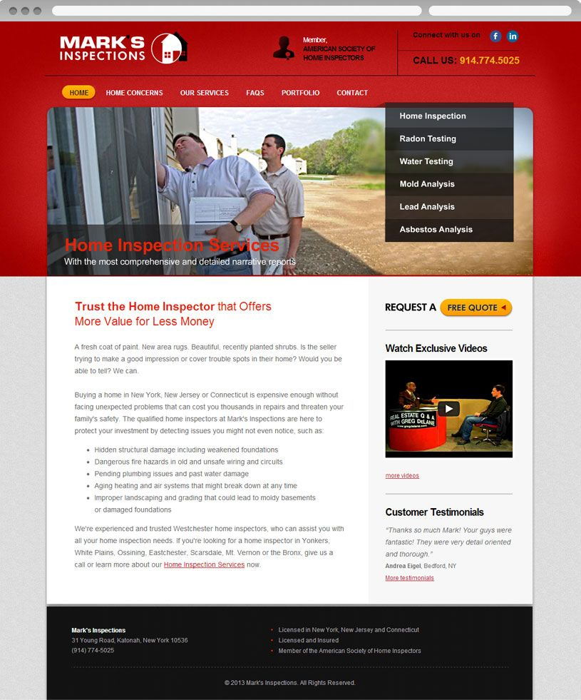 Website Design For Mark Inspections View Online At Http Www Circuits Niyatisg Web 161 Small Busines